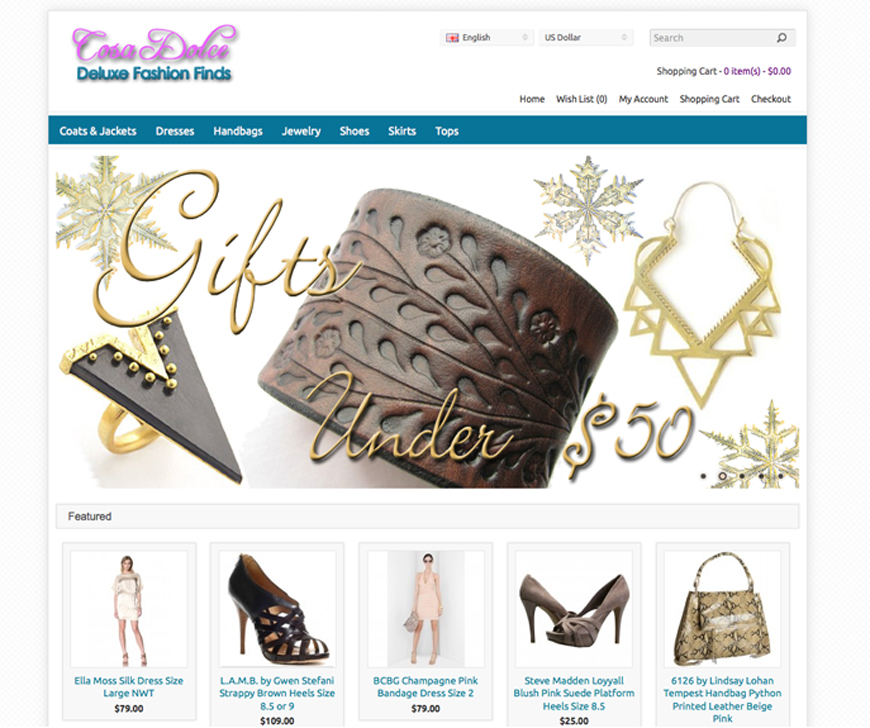 CosaDolce, Online Fashion Consignment Store